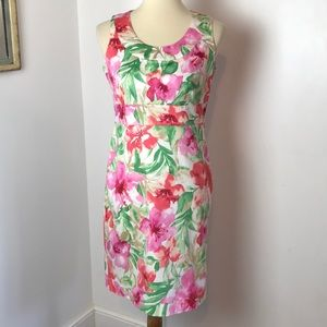 Jones New York Floral Sleeveless Dress 4P